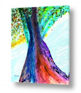 אסתר חן-ברזילי אסתר חן-ברזילי - אמנות מהלב - המילים הפכו לצבעים - גזעים | הבה נרקוד