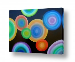 אסתר חן-ברזילי אסתר חן-ברזילי - אמנות מהלב - המילים הפכו לצבעים - עיגול | מעגלים