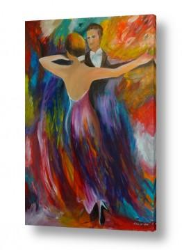 אסתר חן-ברזילי אסתר חן-ברזילי - אמנות מהלב - המילים הפכו לצבעים - צבעוניות | רקדנים