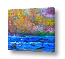 ציורים ציור | פריחה על גדות הירדן