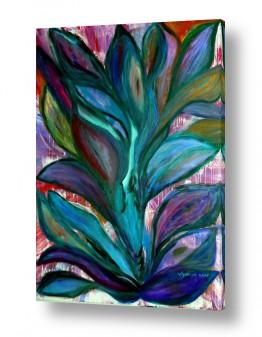 אסתר חן-ברזילי אסתר חן-ברזילי - אמנות מהלב - המילים הפכו לצבעים - גבעולים | שיח האהבה