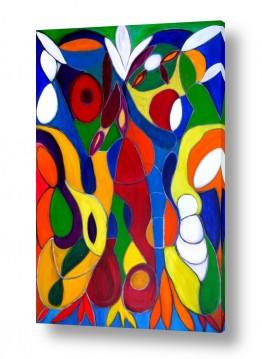 אסתר חן-ברזילי אסתר חן-ברזילי - אמנות מהלב - המילים הפכו לצבעים - מודרני | ויטראז 2