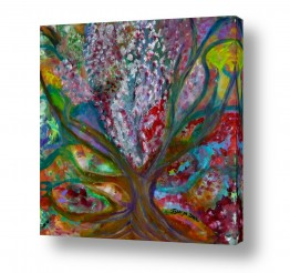 אסתר חן-ברזילי אסתר חן-ברזילי - אמנות מהלב - המילים הפכו לצבעים - גזעים | עץ המשאלות