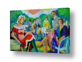 אסתר חן-ברזילי אסתר חן-ברזילי - אמנות מהלב - המילים הפכו לצבעים - דמויות | בית קפה בפריז