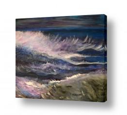 אסתר חן-ברזילי אסתר חן-ברזילי - אמנות מהלב - המילים הפכו לצבעים - דמויות | סערת הים