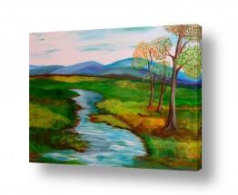 אסתר חן-ברזילי אסתר חן-ברזילי - אמנות מהלב - המילים הפכו לצבעים - הרים | נוף פסטורלי