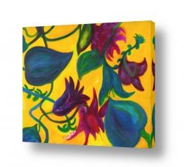 אסתר חן-ברזילי אסתר חן-ברזילי - אמנות מהלב - המילים הפכו לצבעים - גבעולים | פריחה 3