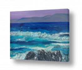 אסתר חן-ברזילי אסתר חן-ברזילי - אמנות מהלב - המילים הפכו לצבעים - הרים | גאות הים