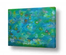 ציורים אסתר חן-ברזילי | תפרחת במים 2