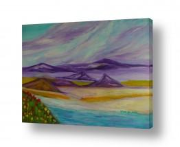 אסתר חן-ברזילי אסתר חן-ברזילי - אמנות מהלב - המילים הפכו לצבעים - הרים | הגבעות הסגולות