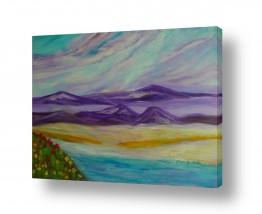ציורים אסתר חן-ברזילי | הגבעות הסגולות 2