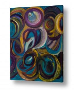 אסתר חן-ברזילי אסתר חן-ברזילי - אמנות מהלב - המילים הפכו לצבעים - תנועה | גלקסיות