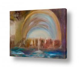 אסתר חן-ברזילי אסתר חן-ברזילי - אמנות מהלב - המילים הפכו לצבעים - בריכה | אור בקצה המנהרה