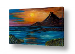 אסתר חן-ברזילי אסתר חן-ברזילי - אמנות מהלב - המילים הפכו לצבעים - השתקפות | הר געש