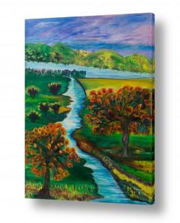 אסתר חן-ברזילי אסתר חן-ברזילי - אמנות מהלב - המילים הפכו לצבעים - שמיים | מה יפית עמק נוי