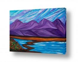 אסתר חן-ברזילי אסתר חן-ברזילי - אמנות מהלב - המילים הפכו לצבעים - הרים | נוף הררי