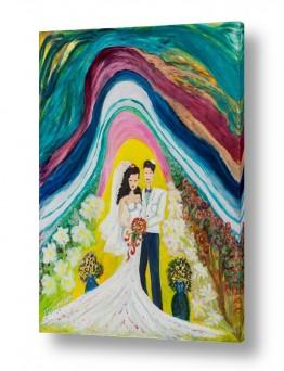 אסתר חן-ברזילי אסתר חן-ברזילי - אמנות מהלב - המילים הפכו לצבעים - שמיים | תחת חופת השמיים