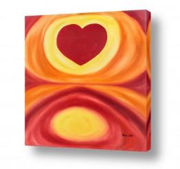 אסתר חן-ברזילי אסתר חן-ברזילי - אמנות מהלב - המילים הפכו לצבעים - מעגלים | לב