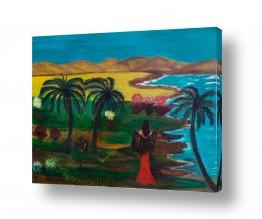 אסתר חן-ברזילי אסתר חן-ברזילי - אמנות מהלב - המילים הפכו לצבעים - הרים | פריחה בלגונה