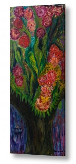 אסתר חן-ברזילי אסתר חן-ברזילי - אמנות מהלב - המילים הפכו לצבעים - גזעים | נוגה- הפריחה
