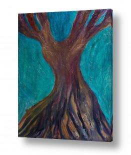אסתר חן-ברזילי אסתר חן-ברזילי - אמנות מהלב - המילים הפכו לצבעים - גזעים | עץ מרקד