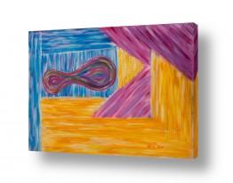 אסתר חן-ברזילי אסתר חן-ברזילי - אמנות מהלב - המילים הפכו לצבעים - מחיצות | רב הנסתר על הגלוי