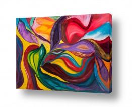 אסתר חן-ברזילי אסתר חן-ברזילי - אמנות מהלב - המילים הפכו לצבעים - צבעים | מחול הצבעים
