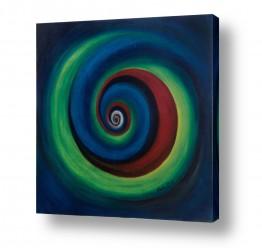 אסתר חן-ברזילי אסתר חן-ברזילי - אמנות מהלב - המילים הפכו לצבעים - מערבולת | ספירלה