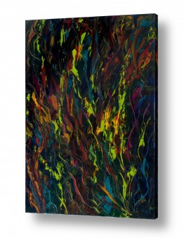 ציורי שמן - אבסטרקט ציורי אווירה | מחול האש