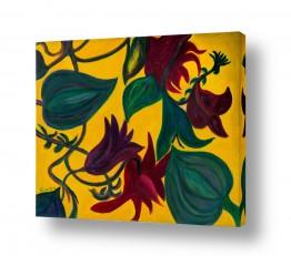 אסתר חן-ברזילי אסתר חן-ברזילי - אמנות מהלב - המילים הפכו לצבעים - גבעולים | פריחה בארגמן