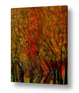 ציורים ציור | חורשה בסתו