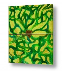 אסתר חן-ברזילי אסתר חן-ברזילי - אמנות מהלב - המילים הפכו לצבעים - מודרני | לב זהב