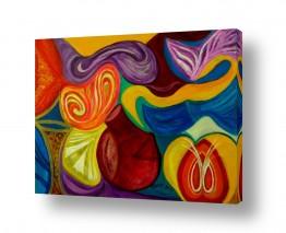 אסתר חן-ברזילי אסתר חן-ברזילי - אמנות מהלב - המילים הפכו לצבעים - צבעוניות | אבסטרקט 6