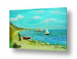 אסתר חן-ברזילי אסתר חן-ברזילי - אמנות מהלב - המילים הפכו לצבעים - הרים | חוף דייגים