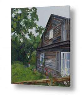 אסתר טל אסתר טל - ציורי שמן ריאליסטיים - בית | לפני שנים בכפר