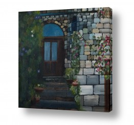 אסתר טל אסתר טל - ציורי שמן ריאליסטיים - קיר | במעלה המדרגות