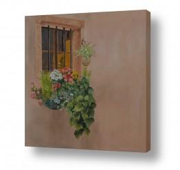 אסתר טל אסתר טל - ציורי שמן ריאליסטיים - ים | פרחים בחלון 1