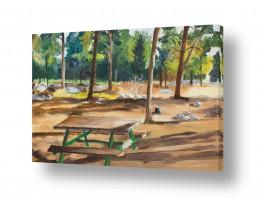 אסתר טל אסתר טל - ציורי שמן ריאליסטיים - עץ | חניוני קקל
