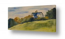 אסתר טל אסתר טל - ציורי שמן ריאליסטיים - בית | נוף
