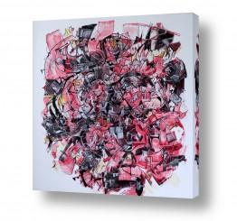 ציורים חיים מחט | סערה באדום