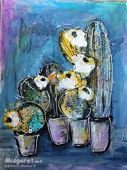 קקטוסים עם פרחים