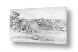 ציורים רישום | חוף הלהבות