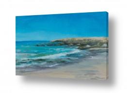 ציורים חני שפר | חוף אכזיב