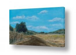 ציורים חני שפר | בדרך לואדי