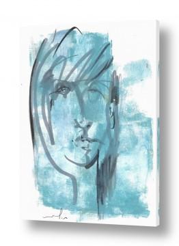 ציורים חני שפר | אישה