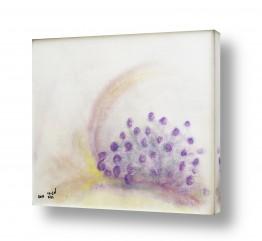 ציורים ציורים אנרגטיים | פרחים בסגול