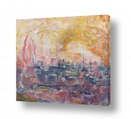 ציורים חוה מזרחי | שמירת המלאכים