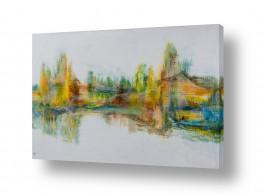 ציורים אבסטרקט | העיר בכתום