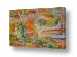ציורים חוה מזרחי | כוחות ריפוי אש
