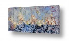 ציורים אבסטרקט | פריחת השלג